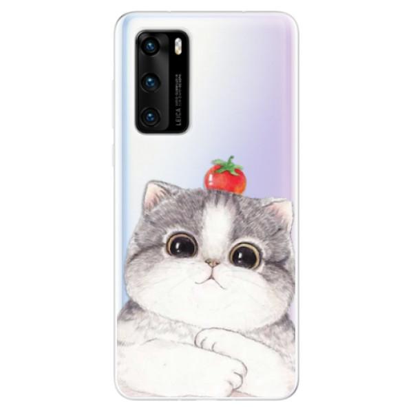 Odolné silikonové pouzdro iSaprio - Cat 03 - Huawei P40