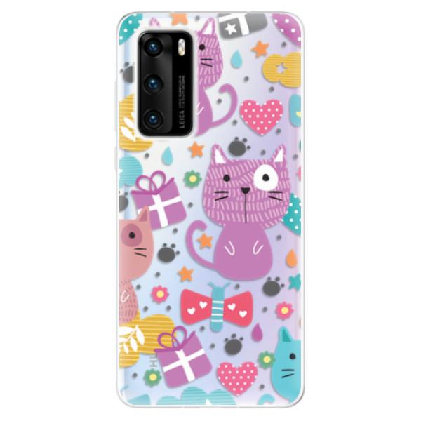 Odolné silikonové pouzdro iSaprio - Cat pattern 01 - Huawei P40