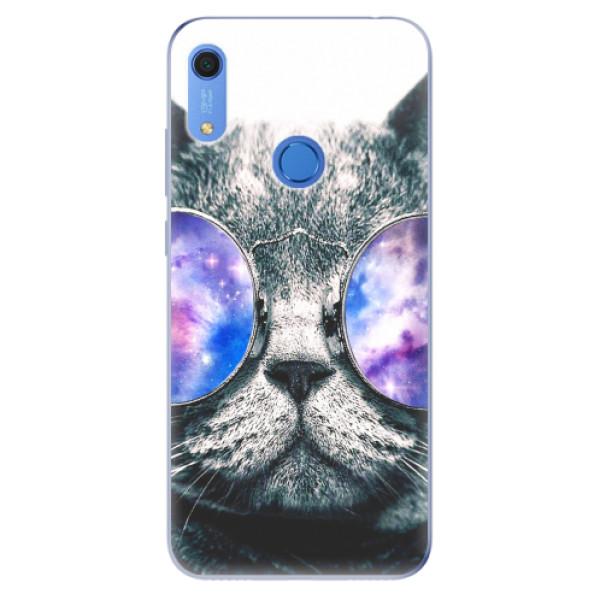 Odolné silikonové pouzdro iSaprio - Galaxy Cat - Huawei Y6s