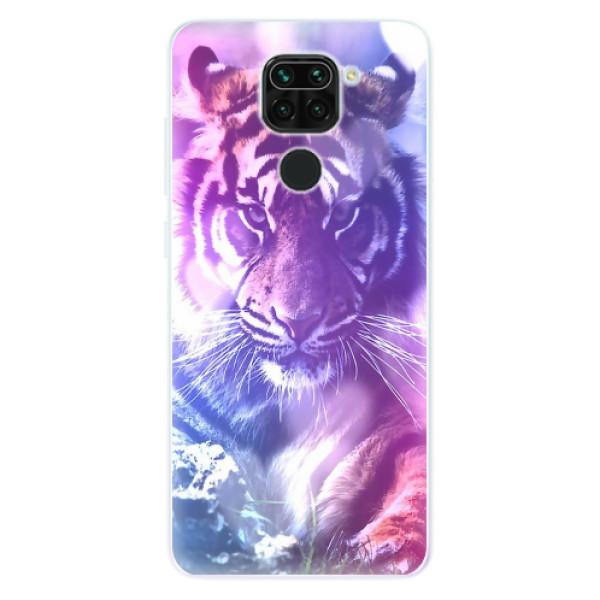 Odolné silikonové pouzdro iSaprio - Purple Tiger - Xiaomi Redmi Note 9