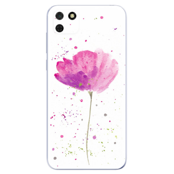 Odolné silikonové pouzdro iSaprio - Poppies - Huawei Y5p