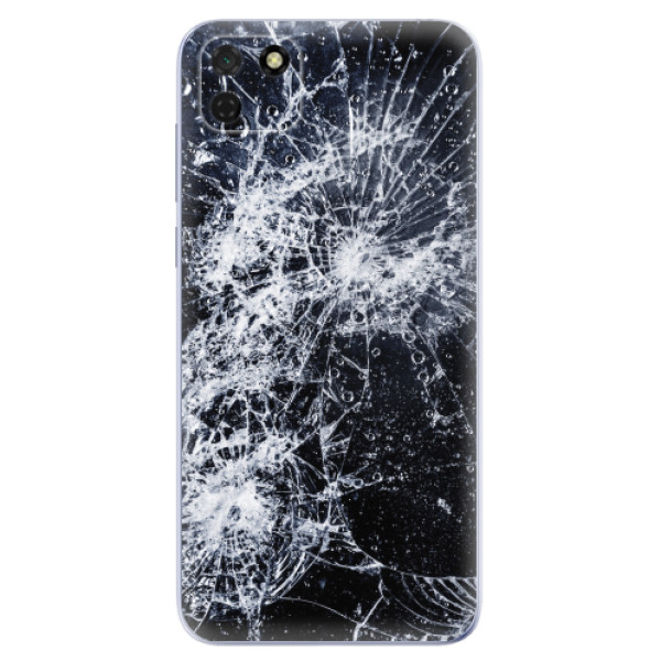 Odolné silikonové pouzdro iSaprio - Cracked - Huawei Y5p