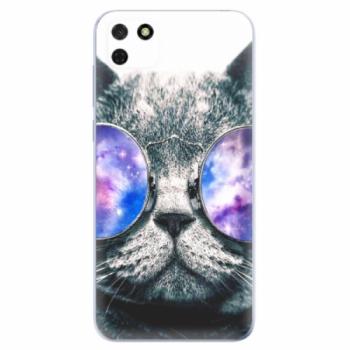 Odolné silikonové pouzdro iSaprio - Galaxy Cat - Huawei Y5p