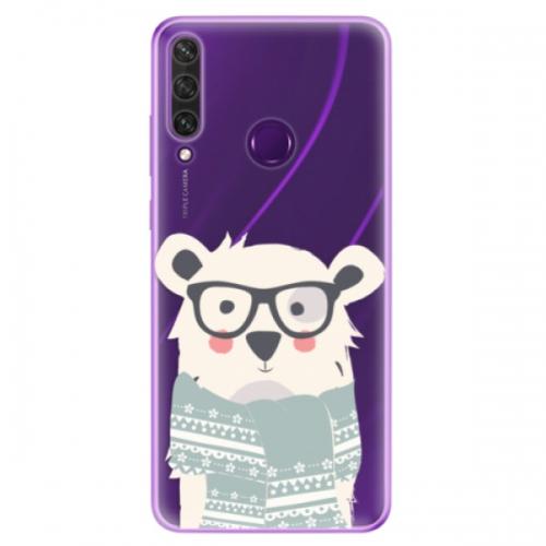 Odolné silikonové pouzdro iSaprio - Bear with Scarf - Huawei Y6p