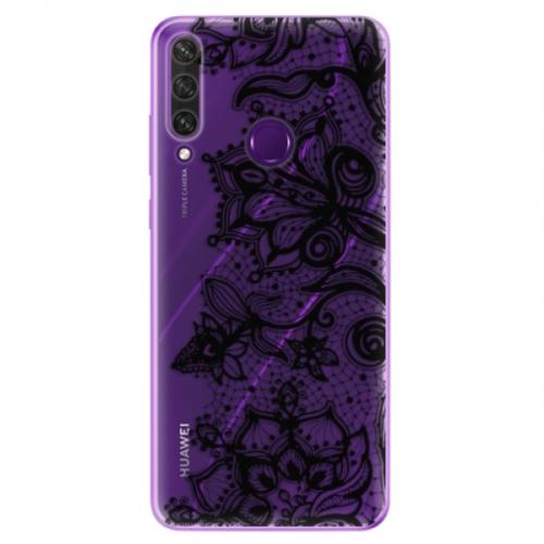 Odolné silikonové pouzdro iSaprio - Black Lace - Huawei Y6p
