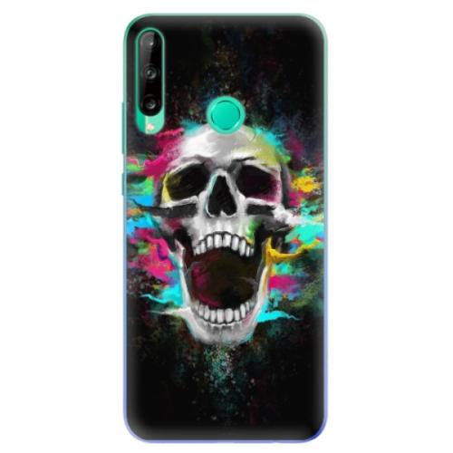 Odolné silikonové pouzdro iSaprio - Skull in Colors - Huawei P40 Lite E