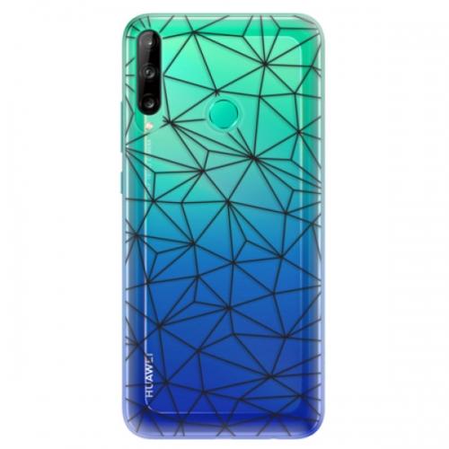 Odolné silikonové pouzdro iSaprio - Abstract Triangles 03 - black - Huawei P40 Lite E
