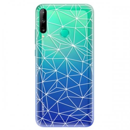 Odolné silikonové pouzdro iSaprio - Abstract Triangles 03 - white - Huawei P40 Lite E