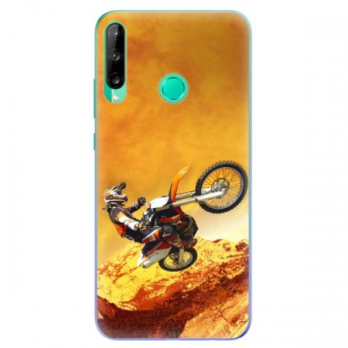 Odolné silikonové pouzdro iSaprio - Motocross - Huawei P40 Lite E