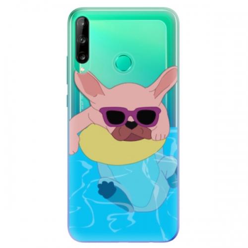 Odolné silikonové pouzdro iSaprio - Swimming Dog - Huawei P40 Lite E