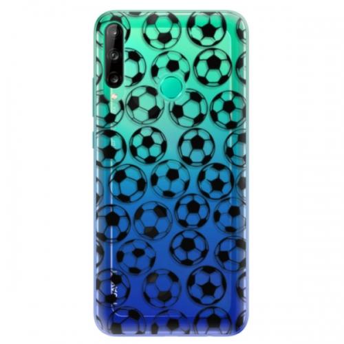 Odolné silikonové pouzdro iSaprio - Football pattern - black - Huawei P40 Lite E