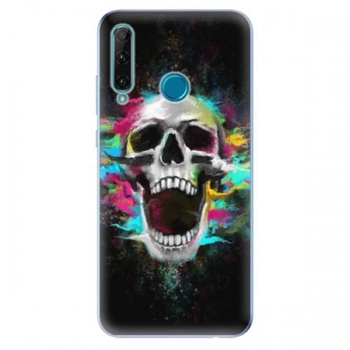Odolné silikonové pouzdro iSaprio - Skull in Colors - Honor 20e