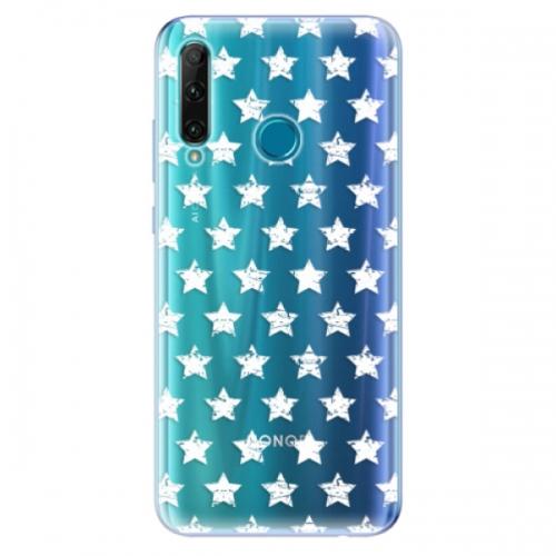 Odolné silikonové pouzdro iSaprio - Stars Pattern - white - Honor 20e