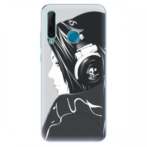 Odolné silikonové pouzdro iSaprio - Headphones - Honor 20e