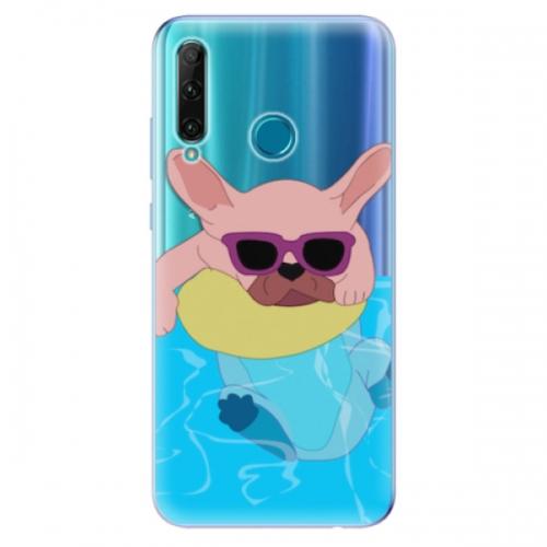 Odolné silikonové pouzdro iSaprio - Swimming Dog - Honor 20e