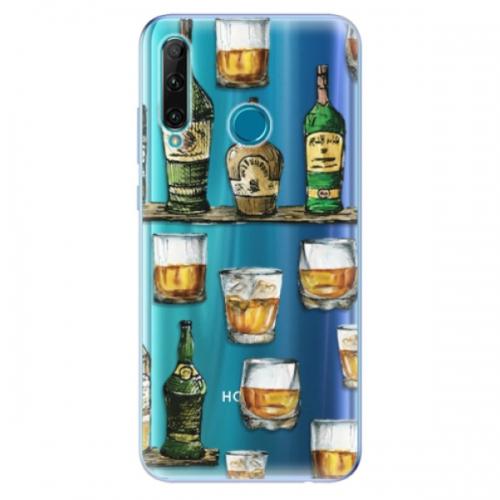 Odolné silikonové pouzdro iSaprio - Whisky pattern - Honor 20e