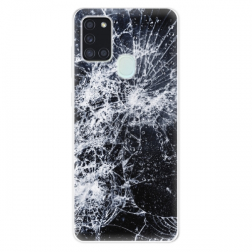 Odolné silikonové pouzdro iSaprio - Cracked - Samsung Galaxy A21s