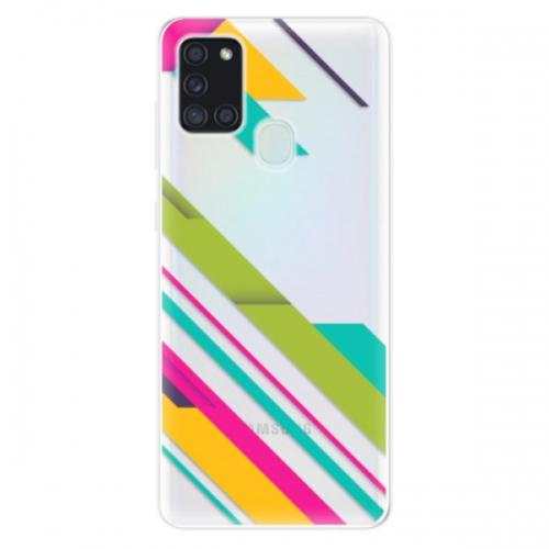 Odolné silikonové pouzdro iSaprio - Color Stripes 03 - Samsung Galaxy A21s