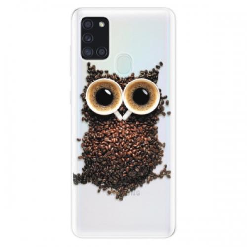 Odolné silikonové pouzdro iSaprio - Owl And Coffee - Samsung Galaxy A21s