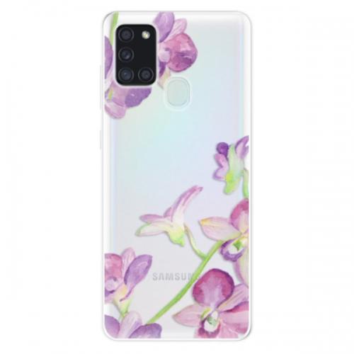 Odolné silikonové pouzdro iSaprio - Purple Orchid - Samsung Galaxy A21s
