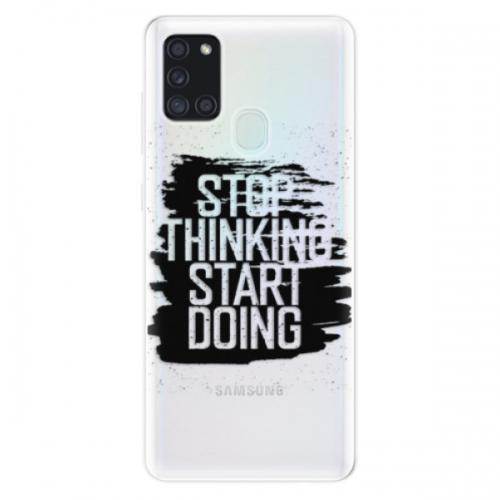 Odolné silikonové pouzdro iSaprio - Start Doing - black - Samsung Galaxy A21s