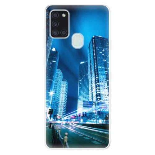Odolné silikonové pouzdro iSaprio - Night City Blue - Samsung Galaxy A21s