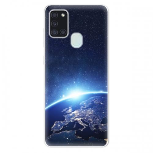 Odolné silikonové pouzdro iSaprio - Earth at Night - Samsung Galaxy A21s