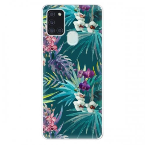 Odolné silikonové pouzdro iSaprio - Tropical Blue 01 - Samsung Galaxy A21s