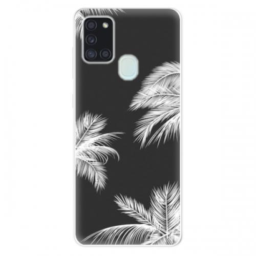 Odolné silikonové pouzdro iSaprio - White Palm - Samsung Galaxy A21s