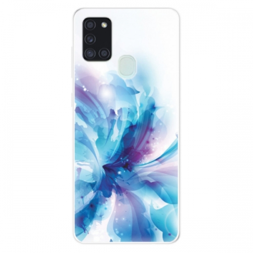 Odolné silikonové pouzdro iSaprio - Abstract Flower - Samsung Galaxy A21s