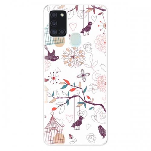 Odolné silikonové pouzdro iSaprio - Birds - Samsung Galaxy A21s