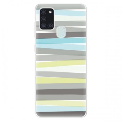 Odolné silikonové pouzdro iSaprio - Stripes - Samsung Galaxy A21s
