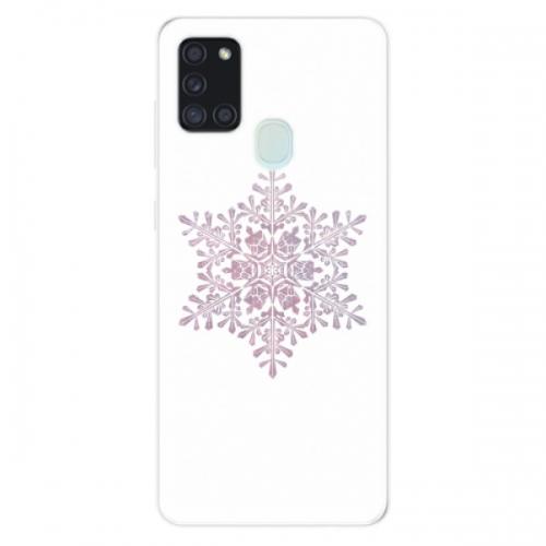 Odolné silikonové pouzdro iSaprio - Snow Flake - Samsung Galaxy A21s
