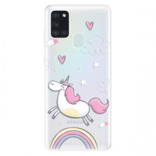 Odolné silikonové pouzdro iSaprio - Unicorn 01 - Samsung Galaxy A21s