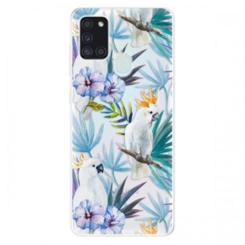 Odolné silikonové pouzdro iSaprio - Parrot Pattern 01 - Samsung Galaxy A21s