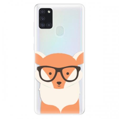 Odolné silikonové pouzdro iSaprio - Orange Fox - Samsung Galaxy A21s