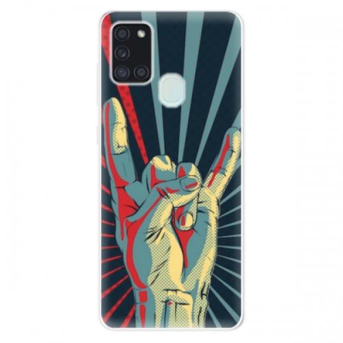 Odolné silikonové pouzdro iSaprio - Rock - Samsung Galaxy A21s