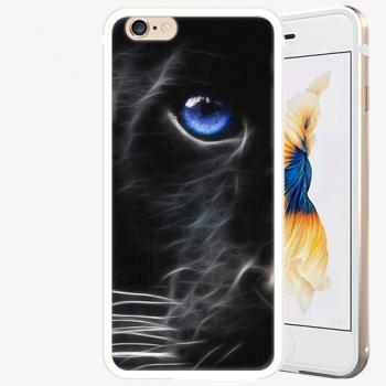 Plastový kryt iSaprio - Black Puma - iPhone 6 Plus/6S Plus - Gold