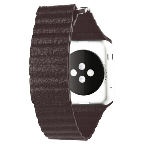 Pásek / řemínek iSaprio Magnetic Leather pro Apple Watch 42mm hnědý