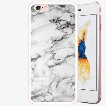 Plastový kryt iSaprio - White Marble 01 - iPhone 6 Plus/6S Plus - Rose Gold