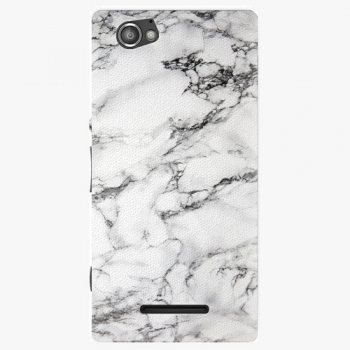 Plastový kryt iSaprio - White Marble 01 - Sony Xperia M