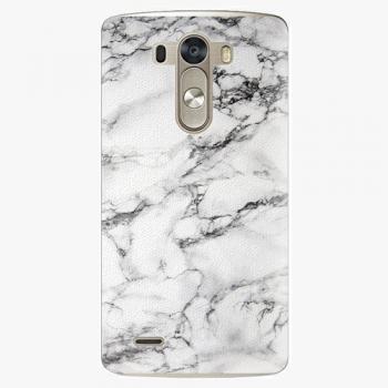 Plastový kryt iSaprio - White Marble 01 - LG G3 (D855)