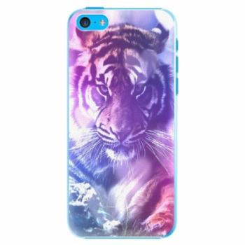 Plastové pouzdro iSaprio - Purple Tiger - iPhone 5C