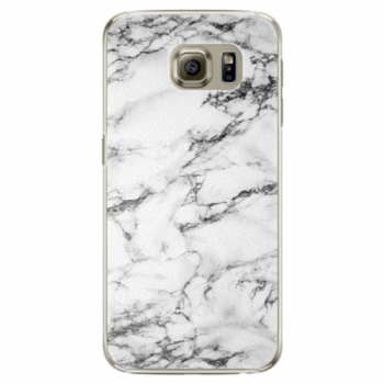 Plastové pouzdro iSaprio - White Marble 01 - Samsung Galaxy S6 Edge