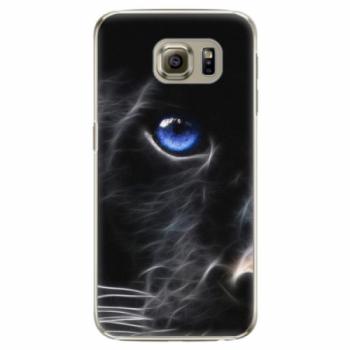 Plastové pouzdro iSaprio - Black Puma - Samsung Galaxy S6 Edge