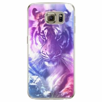 Plastové pouzdro iSaprio - Purple Tiger - Samsung Galaxy S6 Edge