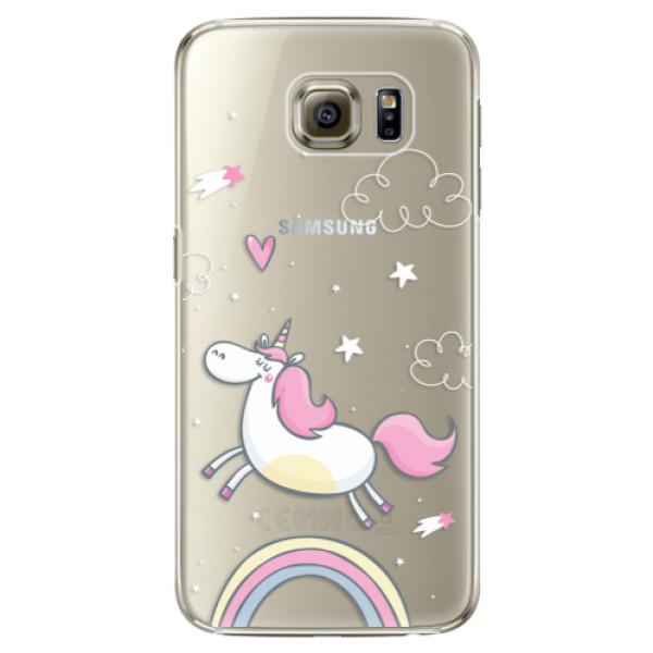 Plastové pouzdro iSaprio - Unicorn 01 - Samsung Galaxy S6 Edge