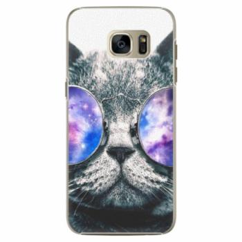 Plastové pouzdro iSaprio - Galaxy Cat - Samsung Galaxy S7
