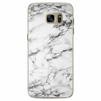 Plastové pouzdro iSaprio - White Marble 01 - Samsung Galaxy S7 Edge