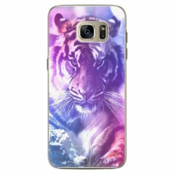 Plastové pouzdro iSaprio - Purple Tiger - Samsung Galaxy S7 Edge